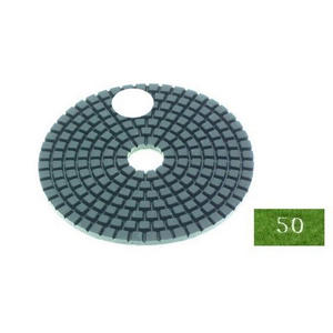 "Diamond flexible polishing pad -4"" #50 wet"