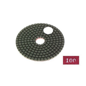 "Diamond flexible polishing pad -4"" #100 wet"