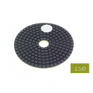 "Diamond flexible polishing pad -4"" #150 wet"