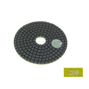 "Diamond flexible polishing pad -4"" #200 wet"