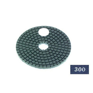 "Diamond flexible polishing pad -4"" #300 wet"