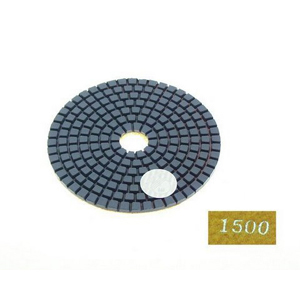 "Diamond flexible polishing pad -4"" #1500 wet"
