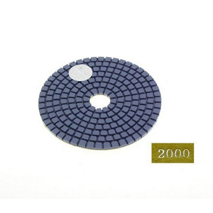 "Diamond flexible polishing pad -4"" #2000 wet"