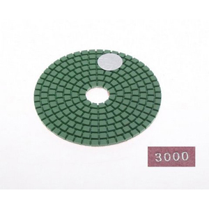 "Diamond flexible polishing pad -4"" #3000 wet"