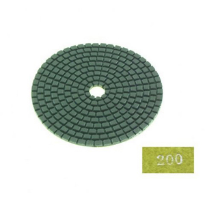 "Diamond flexible polishing pad -4"" #200 dry"