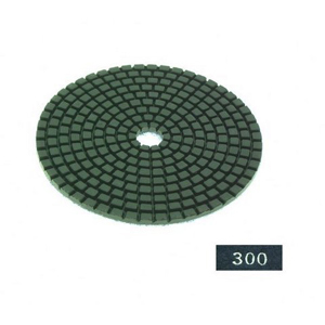 "Diamond flexible polishing pad -4"" #300 dry"