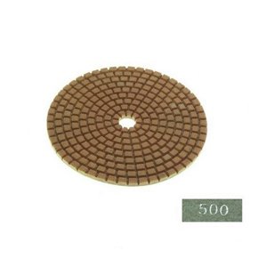"Diamond flexible polishing pad -4"" #500 dry"