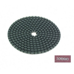 "Diamond flexible polishing pad -4"" #10000 dry"