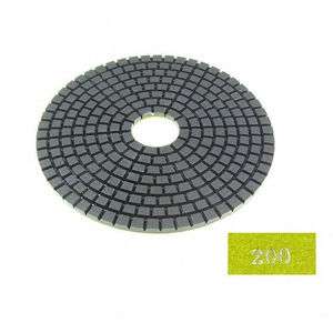 "Diamond flexible polishing pad -5"" 200# wet"