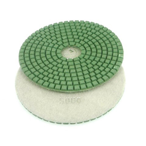 "Diamond flexible polishing pad -5"" 10000# wet"