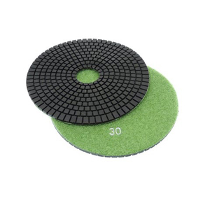 "Diamond flexible polishing pad wet - 6"" 30#"