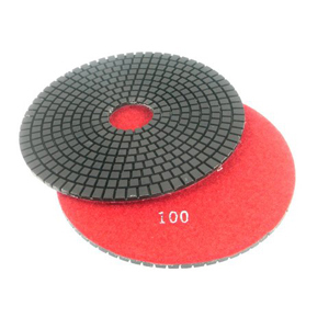 "Diamond flexible polishing pad wet - 6"" 100#"
