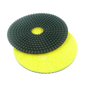 "Diamond flexible polishing pad -6"" 200# wet"