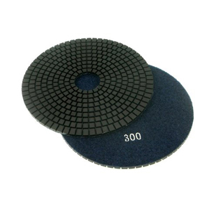 "Diamond flexible polishing pad wet - 6"" 300#"