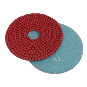 "Diamond flexible polishing pad wet - 6"" 400#"