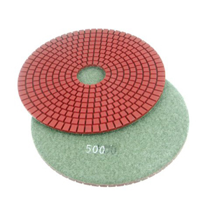 "Diamond flexible polishing pad wet - 6"" 500#"