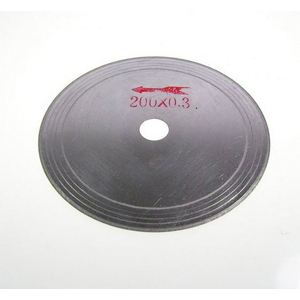 "Diamond rim coated cutting blade - 8"" x 0.3mm"