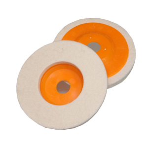 "Felt polishing disc - 4"" 100mm"