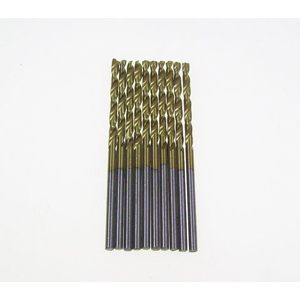 Titanium coated HSS twist drill bit 10 pcs - 2mm