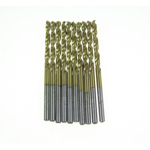 Titanium coated HSS twist drill bit 10 pcs - 3mm