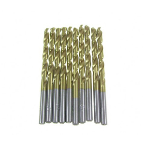 Titanium coated HSS twist drill bit 10 pcs - 5mm