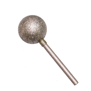 Diamond coated points sphere - 16x3mm 80#