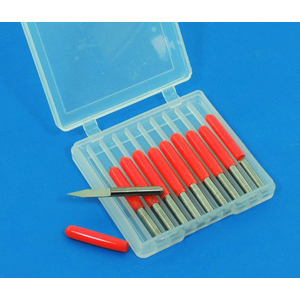 TC engraving bit 10 pcs 25 deg x 0.1 x 3.175mm