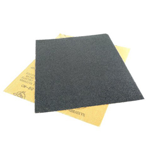 "Black silicon carbide waterproof sanding paper 9x11"" 80#"