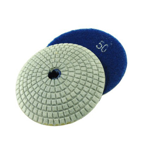 "Diamond resin bonded concave polishing pad 4"" 50# wet"