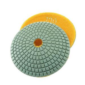 "Diamond resin bonded concave polishing pad 4"" 100# wet"