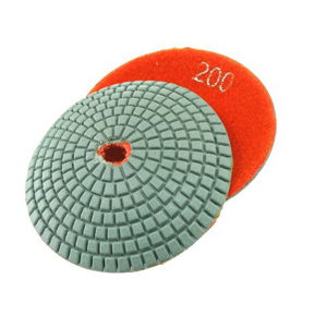 "Diamond resin bonded concave polishing pad 4"" 200# wet"