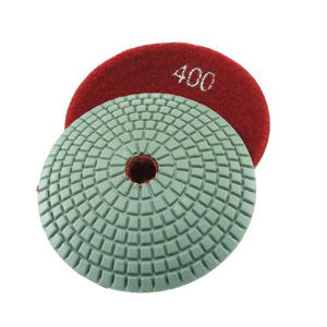 "Diamond resin bonded concave polishing pad 4"" 400# wet"