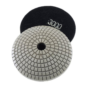 "Diamond resin bonded concave polishing pad 4"" 3000# wet"